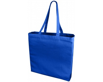 Náhled produktu Velká bavlněná taška PACED se zpevněným dnem - královská modrá