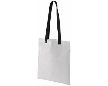 Náhled produktu Polyesterová nákupní taška SNARL s barevnými uchy - bílá / černá