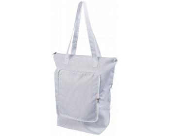 Náhled produktu Skládací chladicí taška BONER s dlouhými ramenními popruhy - bílá