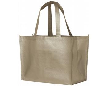 Náhled produktu Laminovaná nákupní taška RECD s lesklým kovovým povrchem