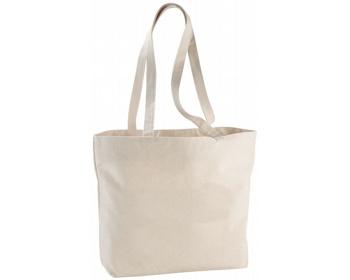 Náhled produktu Bavlněná nákupní taška BOND na zip - přírodní