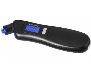 Náhled produktu Digitální tlakoměr na pneumatiky MOORS se svítilnou - černá