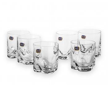 Náhled produktu Sada sklenic POURY pro podávání alkoholu, 6 ks, 280 ml - transparentní