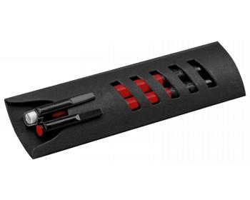 Náhled produktu Sada kuličkového pera a mikrotužky CORPEN v papírové krabičce - červená