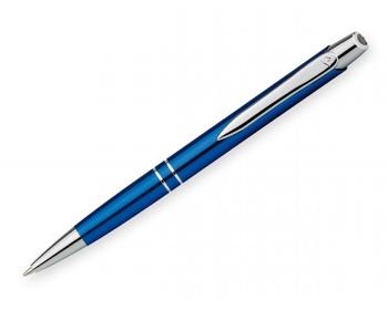 Náhled produktu Kovové kuličkové pero Santini MARIETA METALIC s klipem - modrá