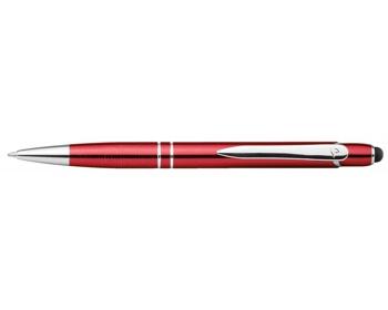 Náhled produktu Kovové kuličkové pero Santini MARIETA TOUCH se stylusem 2 v 1 - červená