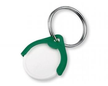 Náhled produktu Plastový přívěšek na mince CATCH CZ s žetonem - zelená