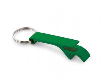 Náhled produktu Kovový přívěsek na klíče otvírák na lahve ALU - zelená