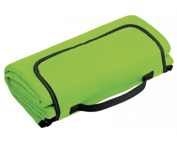 Náhled produktu Skládací fleecová cestovní deka na piknik PAT - světle zelená