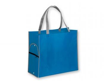 Náhled produktu Skládací nákupní taška PERTINA - nebesky modrá