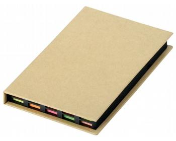 Náhled produktu Sada barevných lepicích papírků HEDVIKA v papírovém obalu - přírodní