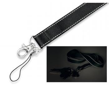 Náhled produktu Šňůrka na krk REFLEXO s karabinou a poutkem - černá
