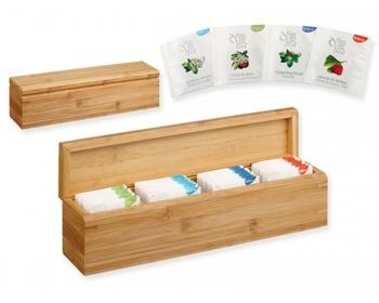 Náhled produktu Sada chutných čajů Biogena PAYTON v bambusové krabičce, 40 ks - přírodní