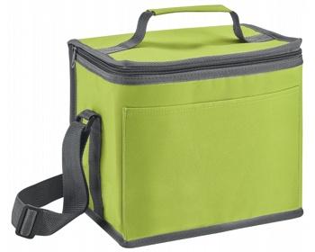 Náhled produktu Polyesterová termotaška MELEK s ramenním popruhem - světle zelená
