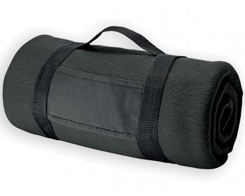 Náhled produktu Fleecová cestovní deka FIT II s popruhem - černá