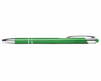 Náhled produktu AKCE: Kovové kuličkové pero BIRMINGHAM TOUCH se stylusem - světle zelená
