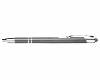 Náhled produktu AKCE: Kovové kuličkové pero BIRMINGHAM TOUCH se stylusem - šedá