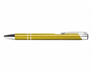 Náhled produktu AKCE: Kovové kuličkové pero LONDON - žlutá metalická