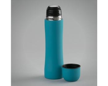 Náhled produktu Kovová termoska KIMBRA s dvojitou stěnou, 500 ml - tyrkysová