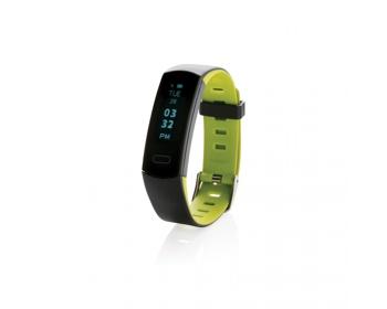 Náhled produktu Voděodolný fitness náramek CAGEL s OLED displejem - zelená