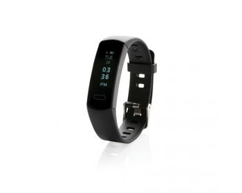 Náhled produktu Voděodolný fitness náramek CAGEL s OLED displejem - černá