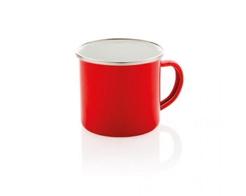 Náhled produktu Smaltový retro hrnek WREST, 350 ml - červená