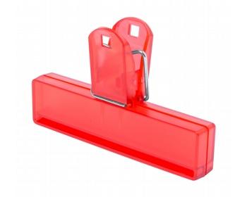 Náhled produktu Plastový klip na uzavření obalu FLINT - červená