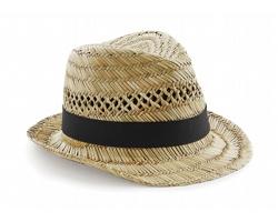 Slaměný klobouk Beechfield Straw Summer Trilby