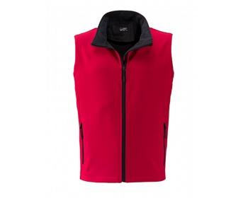 Náhled produktu Pánská softshellová vesta James & Nicholson Mens Promo Softshell Vest