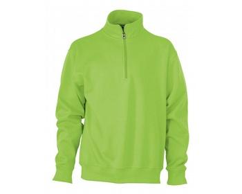Náhled produktu Pánská pracovní mikina James & Nicholson Workwear Half Zip Sweat